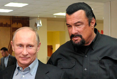 Vladimir Putin teams up with Steven Seagal to promote healthy lifestyle