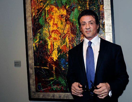 Sylvester Stallone's paintings exhibited in Russia for the first time